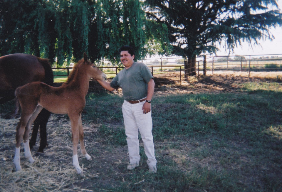 Jose Jimenez with Horse and Filly